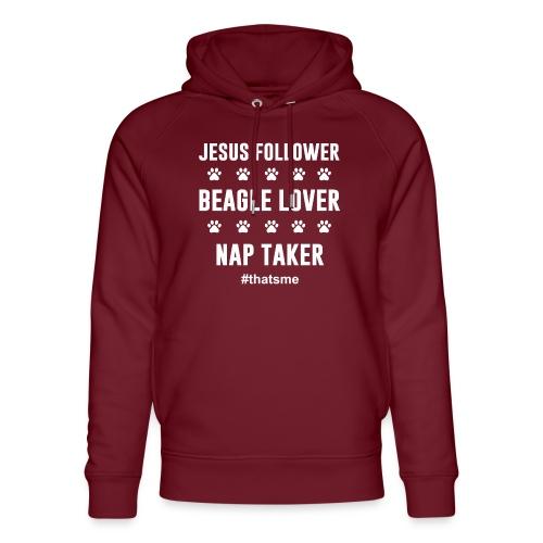 Jesus follower Beagle lover nap taker - Unisex Organic Hoodie by Stanley & Stella