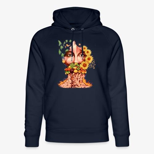 Fruit & Flowers - Unisex Organic Hoodie by Stanley & Stella