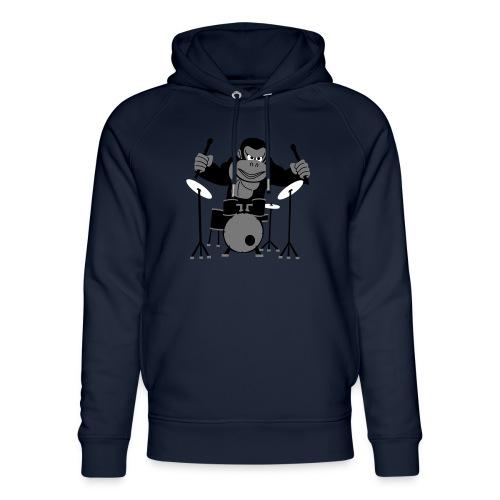 Drumming Gorilla - Unisex Organic Hoodie by Stanley & Stella