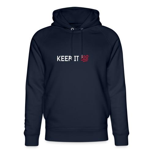 KEEP IT 100 WIT png - Uniseks bio-hoodie van Stanley & Stella