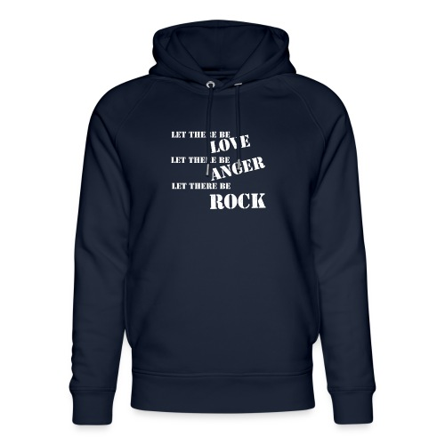 Love Anger Rock - Unisex Organic Hoodie by Stanley & Stella