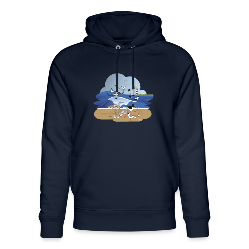 See... birds on the shore - Unisex Organic Hoodie by Stanley & Stella