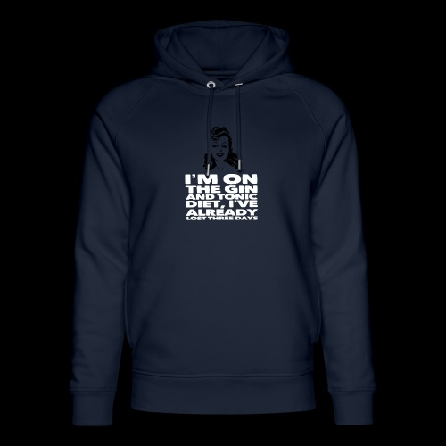 Vintage lady funny quote - Unisex Organic Hoodie by Stanley & Stella