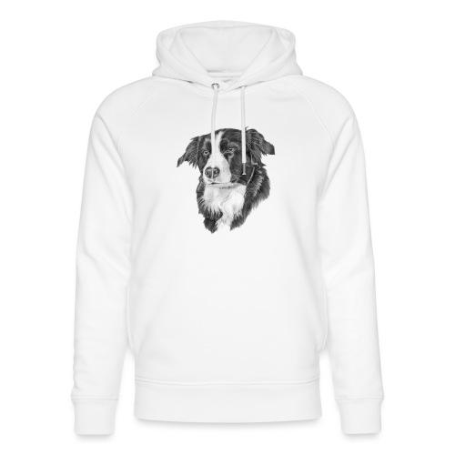 border collie S - Stanley & Stella unisex hoodie af økologisk bomuld
