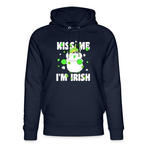 Kiss me I'm Irish Unicorn Einhorn - Unisex Bio-Hoodie von Stanley & Stella