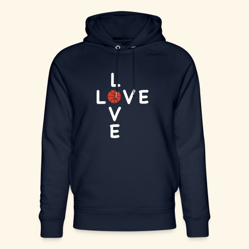 LOVE Cross basketball red 001 - Unisex Bio-Hoodie von Stanley & Stella
