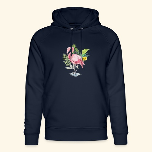 Flamingo tropical forest - Unisex Organic Hoodie by Stanley & Stella