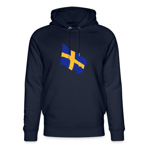 Flagge Schwedenflagge flatternd, Sweden Sverige - Unisex Bio-Hoodie von Stanley & Stella