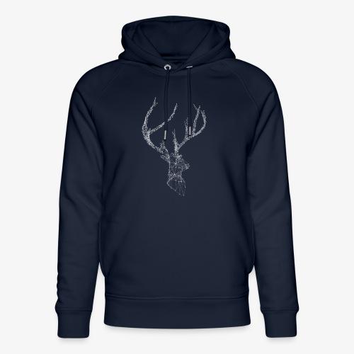 Deer head hertenkop gewei - Uniseks bio-hoodie van Stanley & Stella