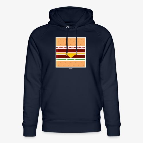 Square Burger - Felpa con cappuccio ecologica unisex di Stanley & Stella