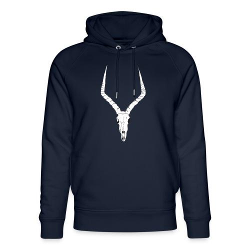 Antelope ANIMAL skull - Unisex Organic Hoodie by Stanley & Stella