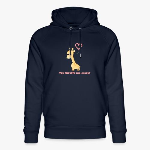 Giraffe Me Crazy - Stanley & Stella unisex hoodie af økologisk bomuld