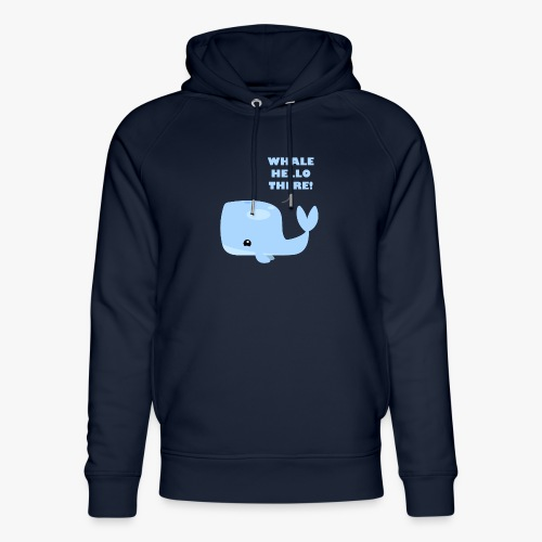 Whale Hello There - Stanley & Stella unisex hoodie af økologisk bomuld