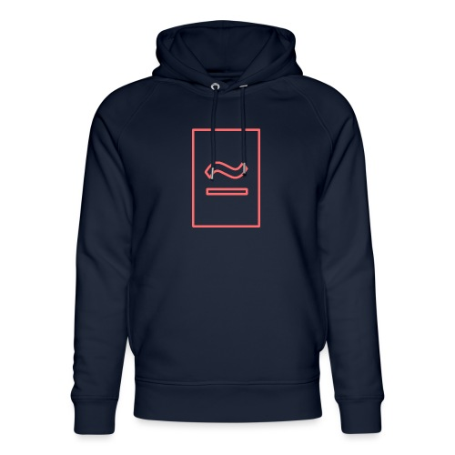 The Commercial Logo (Salmon Outline) - Unisex Organic Hoodie by Stanley & Stella