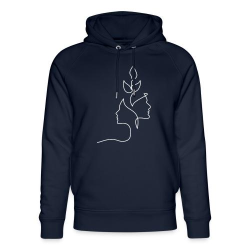 Tanke Hvid - Stanley & Stella unisex hoodie af økologisk bomuld