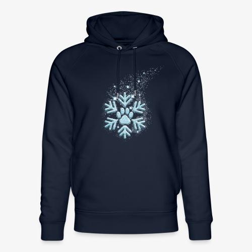 dog paw snowflake - Unisex Bio-Hoodie von Stanley & Stella