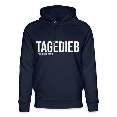 TAGEDIEB - Print in weiß - Unisex Bio-Hoodie von Stanley & Stella