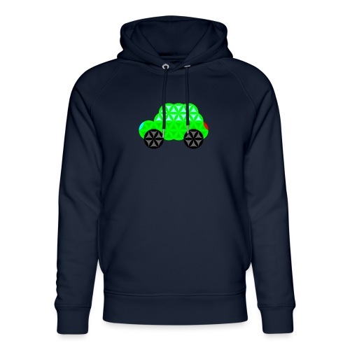The Car Of Life - M01, Sacred Shapes, Green/R01. - Unisex Organic Hoodie by Stanley & Stella