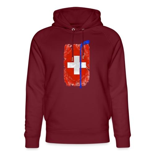 Schweizer Flagge Hockey - Unisex Bio-Hoodie von Stanley & Stella