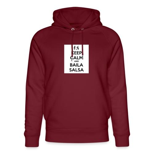 keep-calm-and-baila-salsa-41 - Felpa con cappuccio ecologica unisex di Stanley & Stella