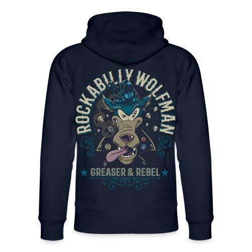 Rockabilly Wolfman - Sudadera con capucha ecológica unisex de Stanley & Stella