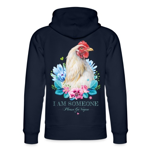 Hen with flowers - Unisex Organic Hoodie by Stanley & Stella