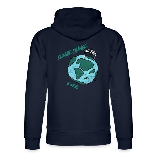 Climate change is real - Uniseks bio-hoodie van Stanley & Stella
