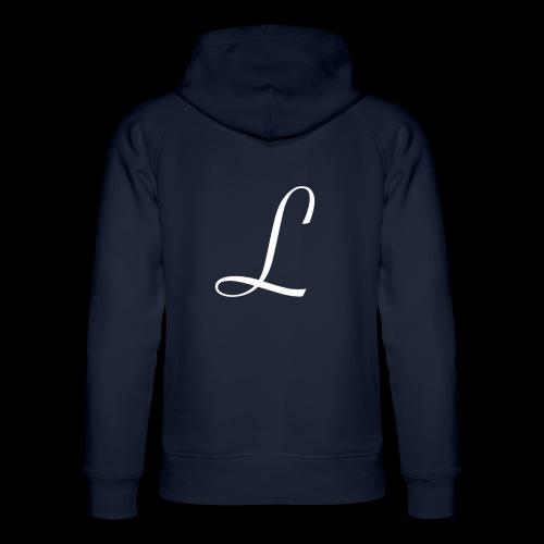 liberty L logo white - Uniseks bio-hoodie van Stanley & Stella