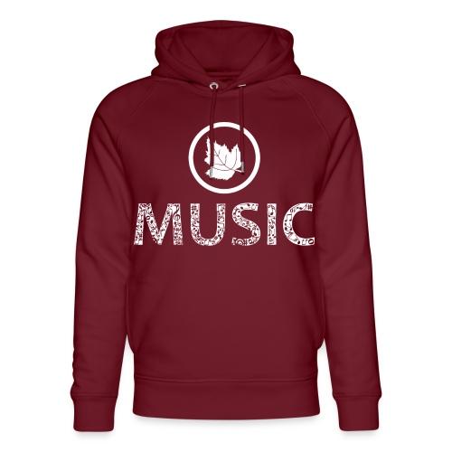 logo bashk music e bardhe - Unisex Organic Hoodie by Stanley & Stella