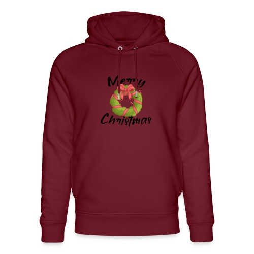 merry christmas, christmas present, christmas tree - Unisex Organic Hoodie by Stanley & Stella