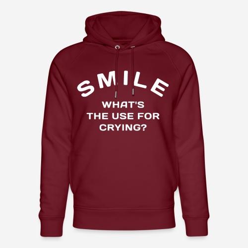 Lächeln glücklich weinen - Unisex Bio-Hoodie von Stanley & Stella