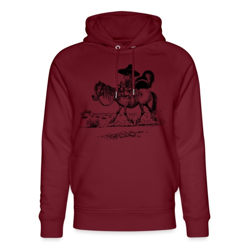 Thelwell 'Cowboy with a skunk' - Unisex Organic Hoodie by Stanley & Stella
