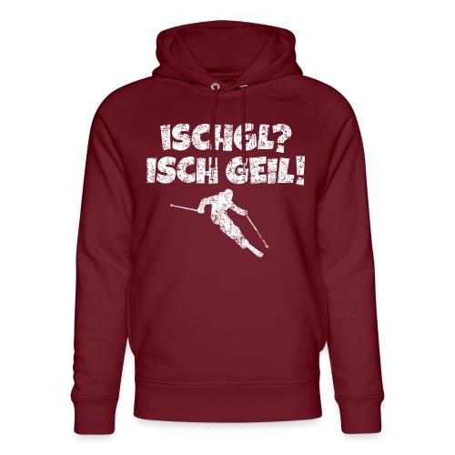 Ischgl Ischgeil Skifahrer (Weiß) Winter Apres-Ski - Unisex Bio-Hoodie von Stanley & Stella