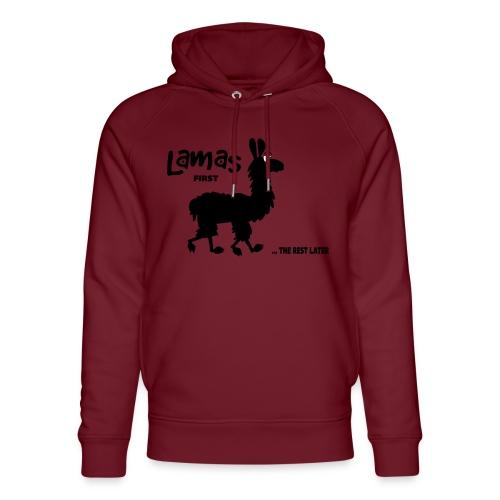 Lamas first - Unisex Bio-Hoodie von Stanley & Stella