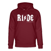 RIDE - Unisex Organic Hoodie by Stanley & Stella - burgundy
