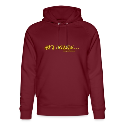 Official Got A Ukulele website t shirt design - Unisex Organic Hoodie by Stanley & Stella