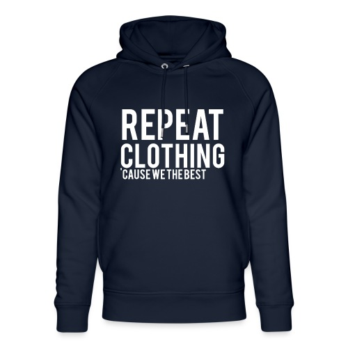 Repeat Clothing - Unisex Organic Hoodie by Stanley & Stella