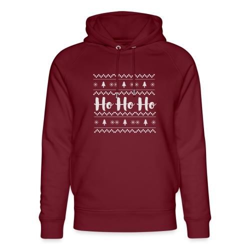 HO HO HO Babbo Natale, Ugly Christmas sweater - Felpa con cappuccio ecologica unisex di Stanley & Stella