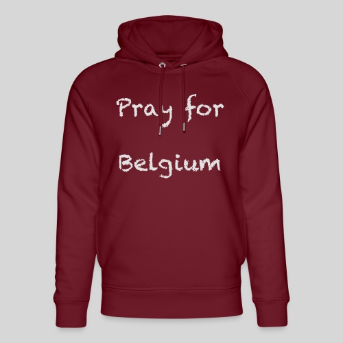 Pray for Belgium - Sweat à capuche bio Stanley & Stella unisexe