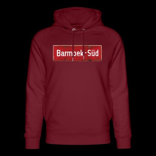 HAMBURG Barmbek Sued Ortsschild rot antik - Unisex Bio-Hoodie von Stanley & Stella