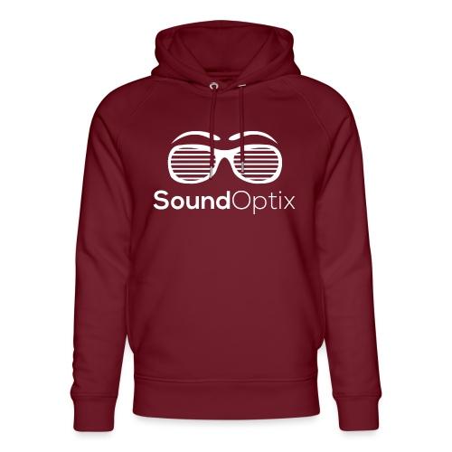 SoundOptix Logo Weiß - Unisex Bio-Hoodie von Stanley & Stella