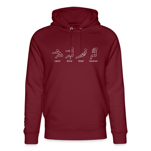 catch drive finish recover - Unisex Organic Hoodie by Stanley & Stella