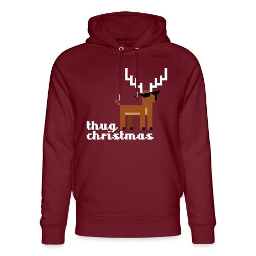 Christmas Xmas Deer Pixel Funny - Unisex Organic Hoodie by Stanley & Stella