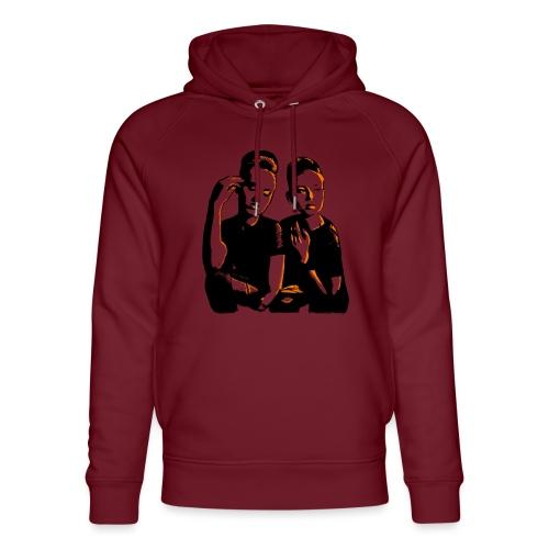 ATTITUDE<>WOKE (orange) - Stanley & Stella unisex hoodie af økologisk bomuld