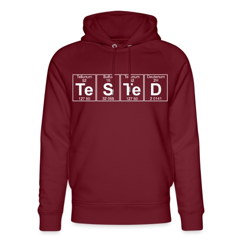 Te-S-Te-D (tested) (small) - Unisex Organic Hoodie by Stanley & Stella