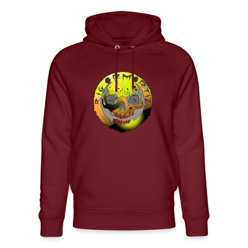 Rigormortiz Metallic Yellow Orange Design - Unisex Organic Hoodie by Stanley & Stella