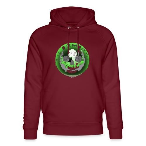 Rigormortiz Metallic Green Design - Unisex Organic Hoodie by Stanley & Stella