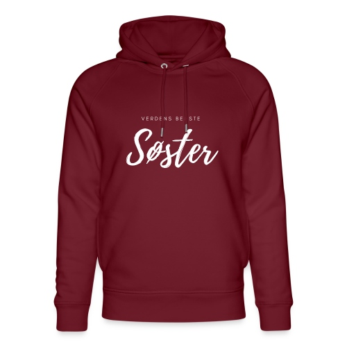 Verdens bedstesøster - Stanley & Stella unisex hoodie af økologisk bomuld