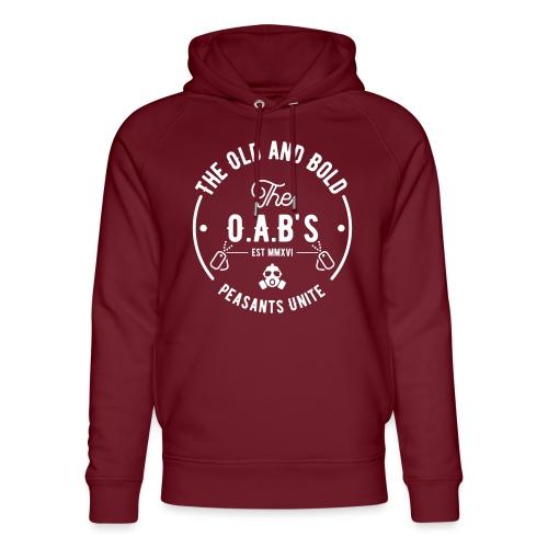 OAB unite white - Unisex Organic Hoodie by Stanley & Stella