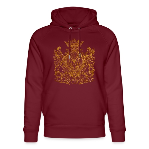 Peace and prosperity coat of arms - Sudadera con capucha ecológica unisex de Stanley & Stella